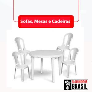 Sofás, Cadeiras e Mesas